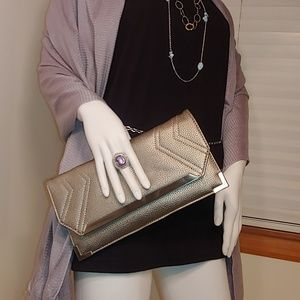 🆕 Silpada Pewter Pebbled Clutch Designer Sample